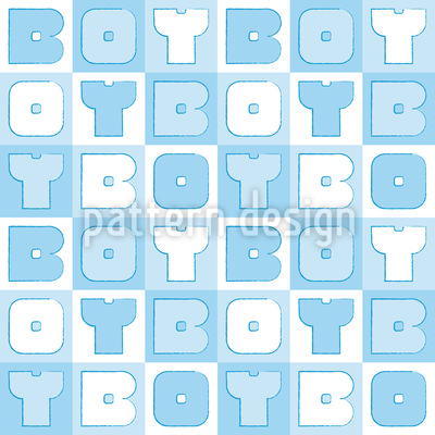 Boy Sudoku Nahtloses Vektor Muster