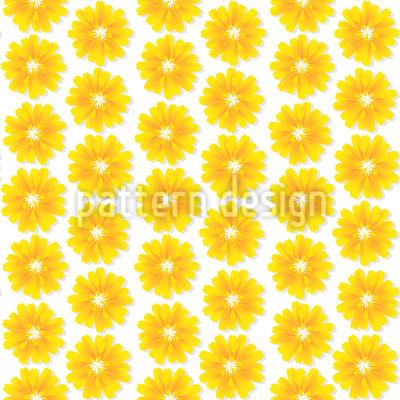 Blumen Der Sonne Nahtloses Muster
