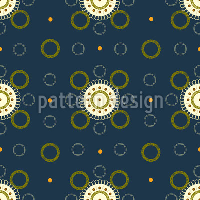 Flowers Of Time Pattern Design