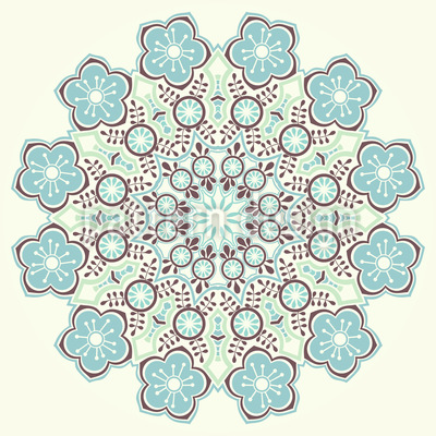 Magical Winter Mandala Vector Pattern