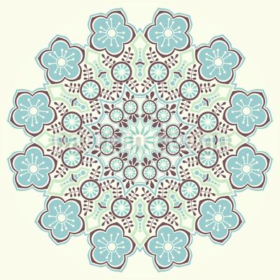 Zauberhaftes Winter Mandala Vektor Muster