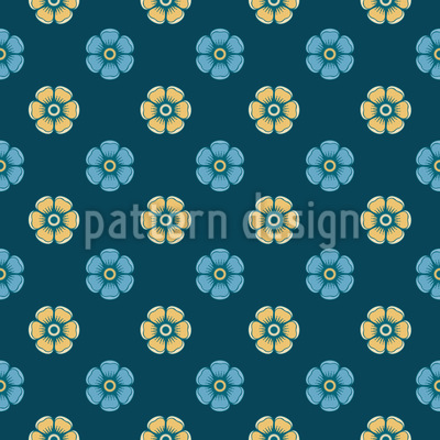 Night Of The Enamel Roses Repeat Pattern
