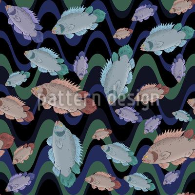 Fische In Der Strömung Designmuster