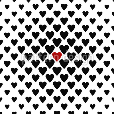 One Heart In A Million Pattern Design