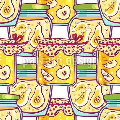 Fruchtkompott Im Glas Vektor Muster