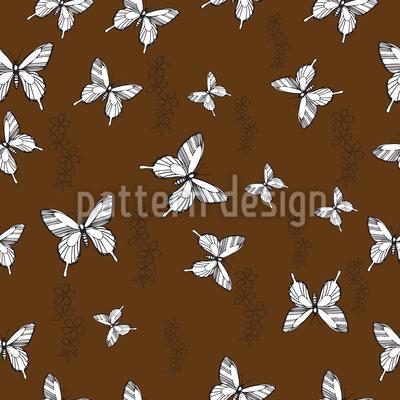 Schmetterling Erinnerung Rapportiertes Design