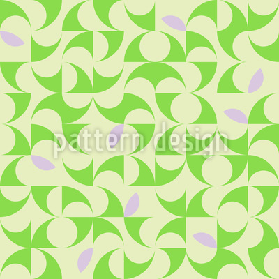 With The Eyes Of Spring Repeat Pattern