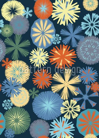 Flocken Nostalgie Muster Design