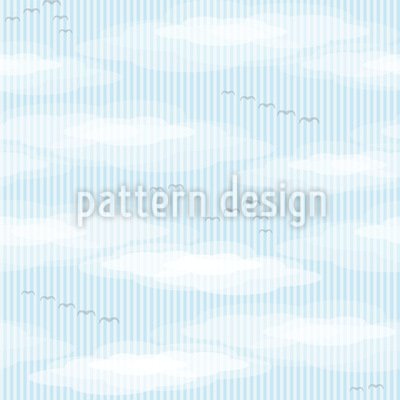 Birds In The Clouds Vector Ornament