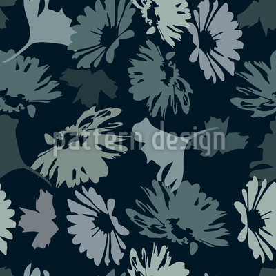 The Garden Blues Seamless Pattern