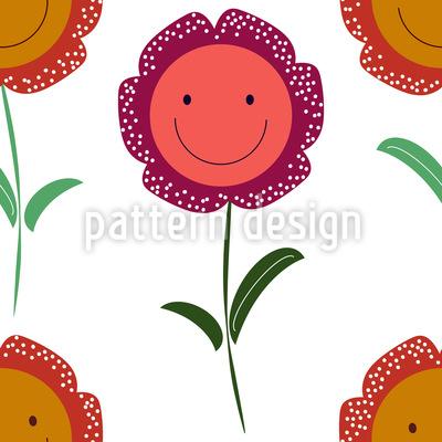 Fang Dir Ein Lächeln Vektor Muster