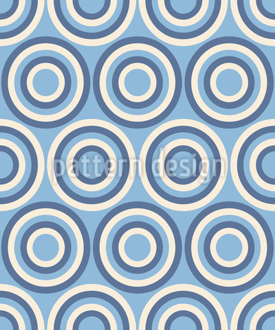 Retro Wheels Of Fortune Repeat Pattern