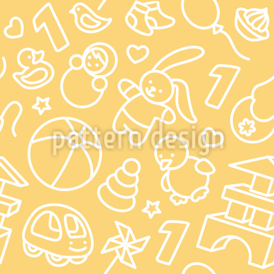 Toddler Toys Vector Ornament