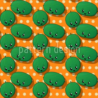 Kawaii Watermelon Repeating Pattern