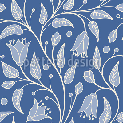Bluebells Fantasy Vector Pattern