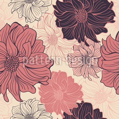 Zarte Dahlien Muster Design