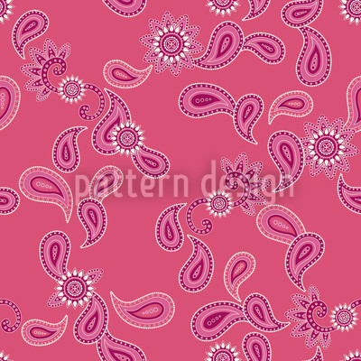 Paisley In Pink Pattern Design