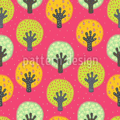 Fruit Orchard Vector Pattern