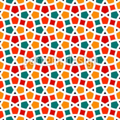 Fishing net mosaic Vector Design