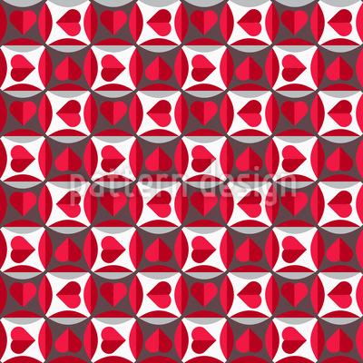 Lupen Herz Rapportiertes Design