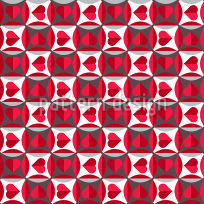Magnifier Hearts Repeating Pattern
