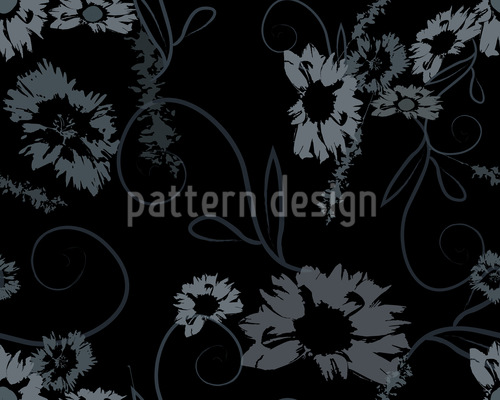 The Garden Nero Pattern Design