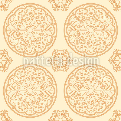 Snow Flake Mandalas Seamless Pattern