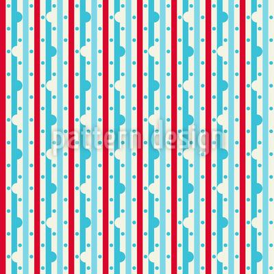 Dewdrop On Stripe Repeat Pattern