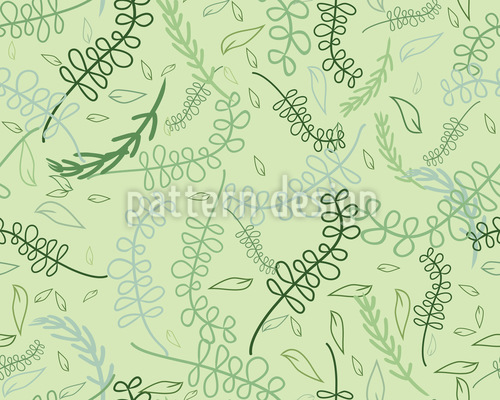 Swirling Leaves In The Spring Seamless Pattern