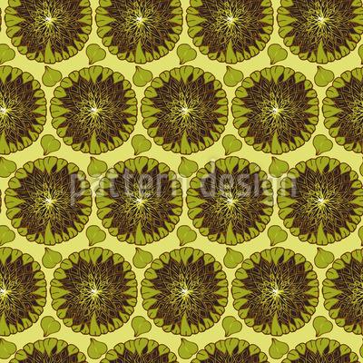 Overripe Sunflowers Seamless Vector Pattern