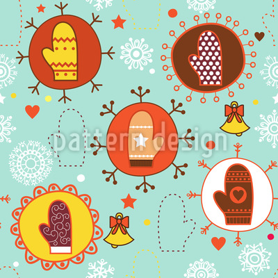 Warm Mittens Vector Pattern