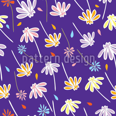 Blumen Im Wind Vektor Design
