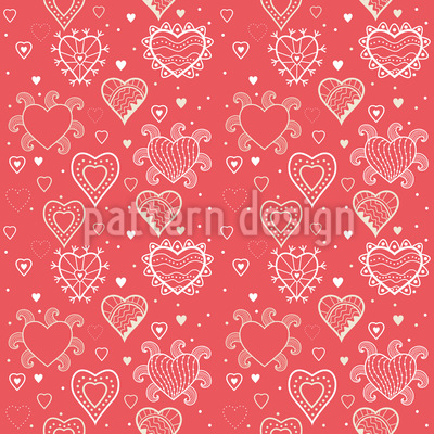 Romance With Hearts Pattern Design