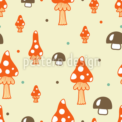 Die Pilze Stehen Im Walde Muster Design