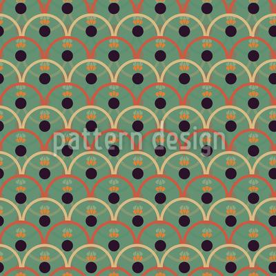 Ondas Y Circulos Repeating Pattern