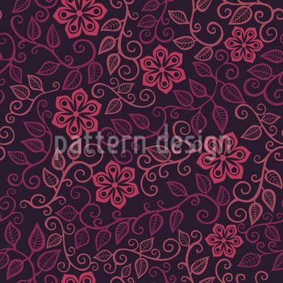 Sternblumen Zu Mitternacht Designmuster