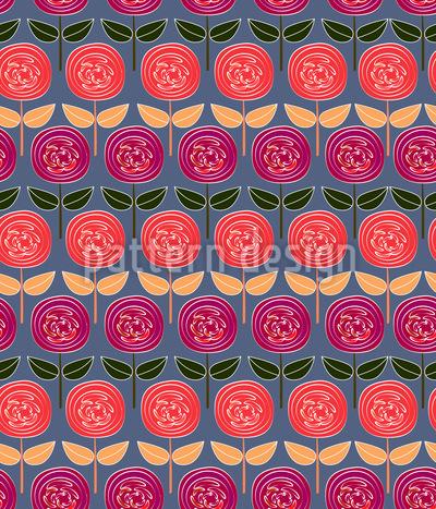 Rosen Reihen Vektor Design