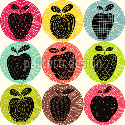 An Apple A Day Repeating Pattern