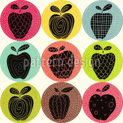 Ein Apfel Am Tag Rapportiertes Design