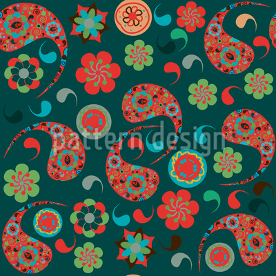 Party Fun With Paisleys Vector Design