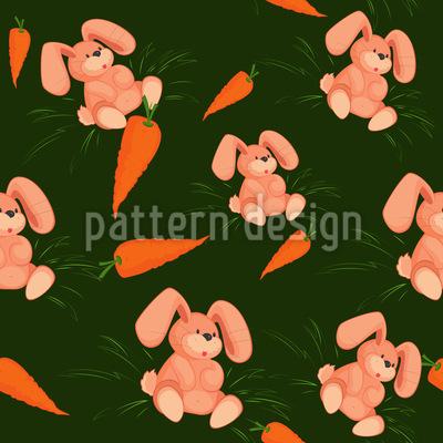 Mein Häschen Liebt Karotten Rapportiertes Design