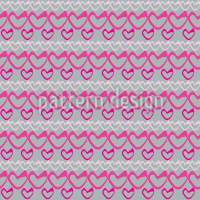 Heart And Strip Pattern Design