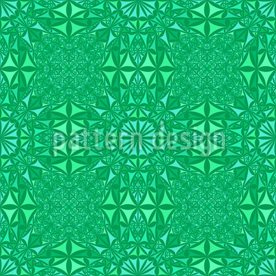 Emerald Glass Seamless Pattern