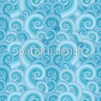 Wellen Fantasie Nahtloses Vektor Muster