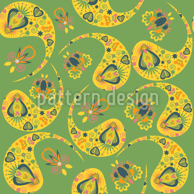 Paisley Im Frühling Muster Design