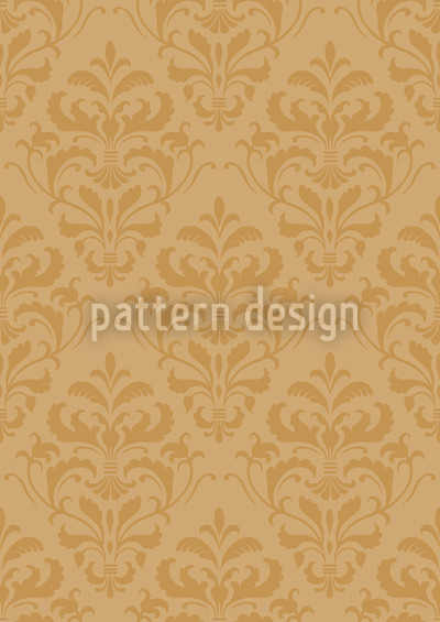 Golden Baroque Pattern Design