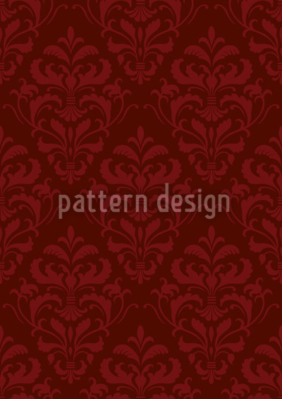 Red French Baroque Design Pattern