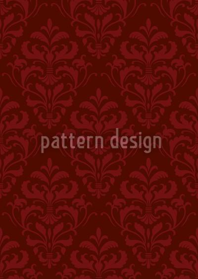 Roter Französischer Barock Designmuster