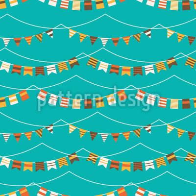 Garlands And Waves Vector Design