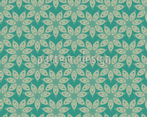 Anise Flowers In The Water Repeat Pattern